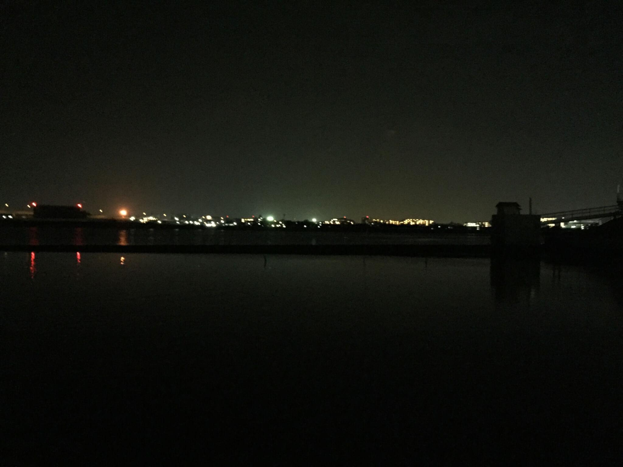 多摩川・海老取川合流地点