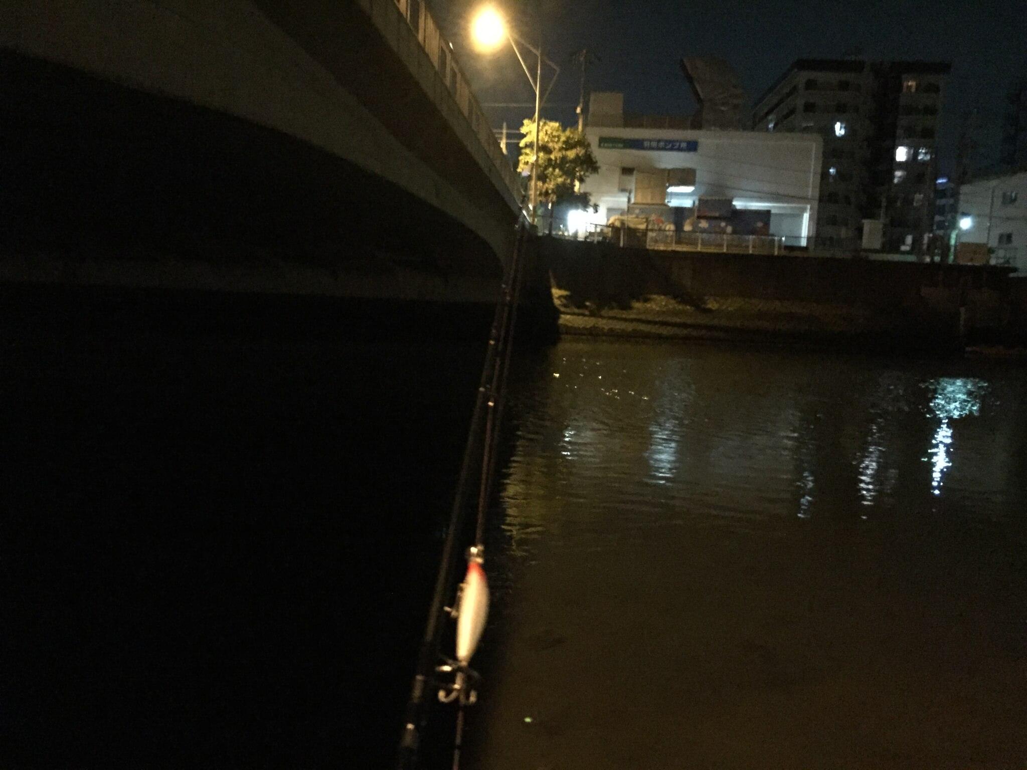 穴森橋の下明暗