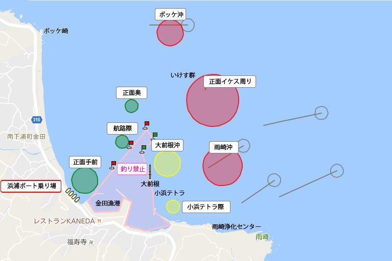 釣りの浜浦さんマップ