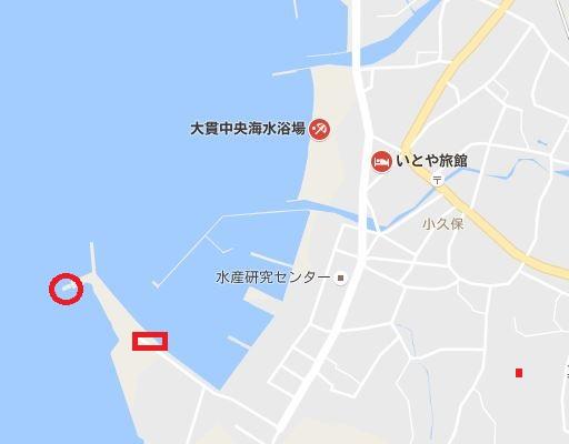 大貫港の釣りポイント