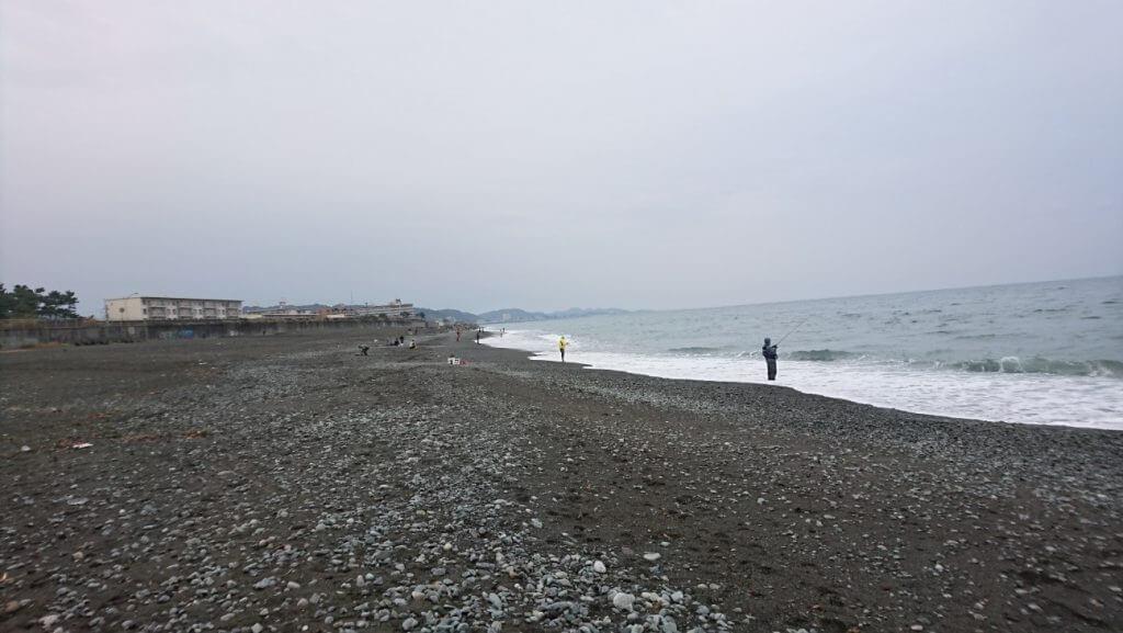 酒匂海岸のサーフ釣り