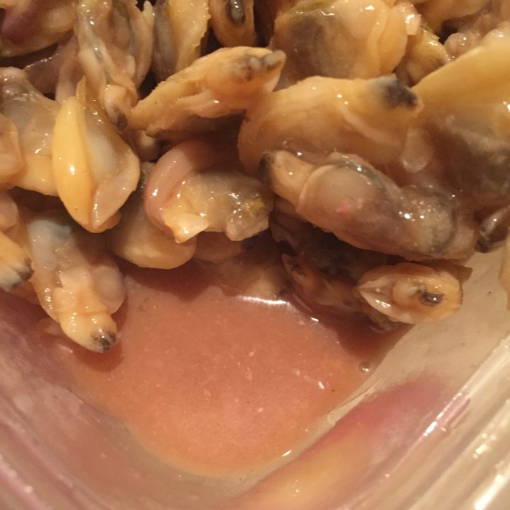 冷凍アサリ+塩辛+ナンプラー