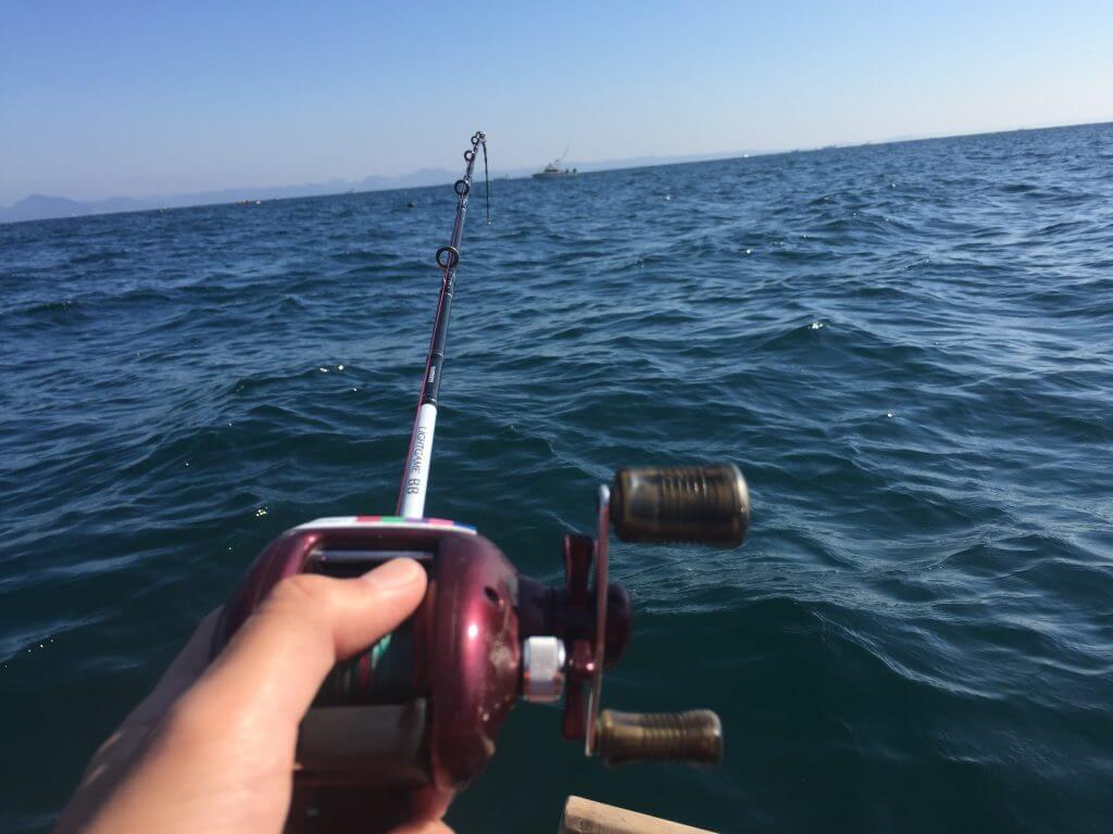 カワハギ釣り開始