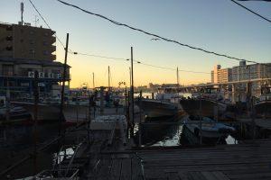 米元釣り船からみた平潟湾
