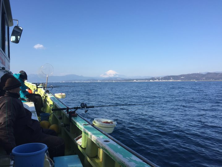 相模湾は富士がきれい(大磯沖)