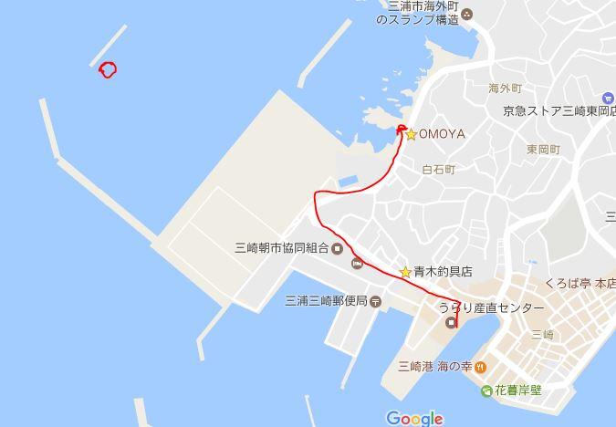うらり→白石港→みうら海王