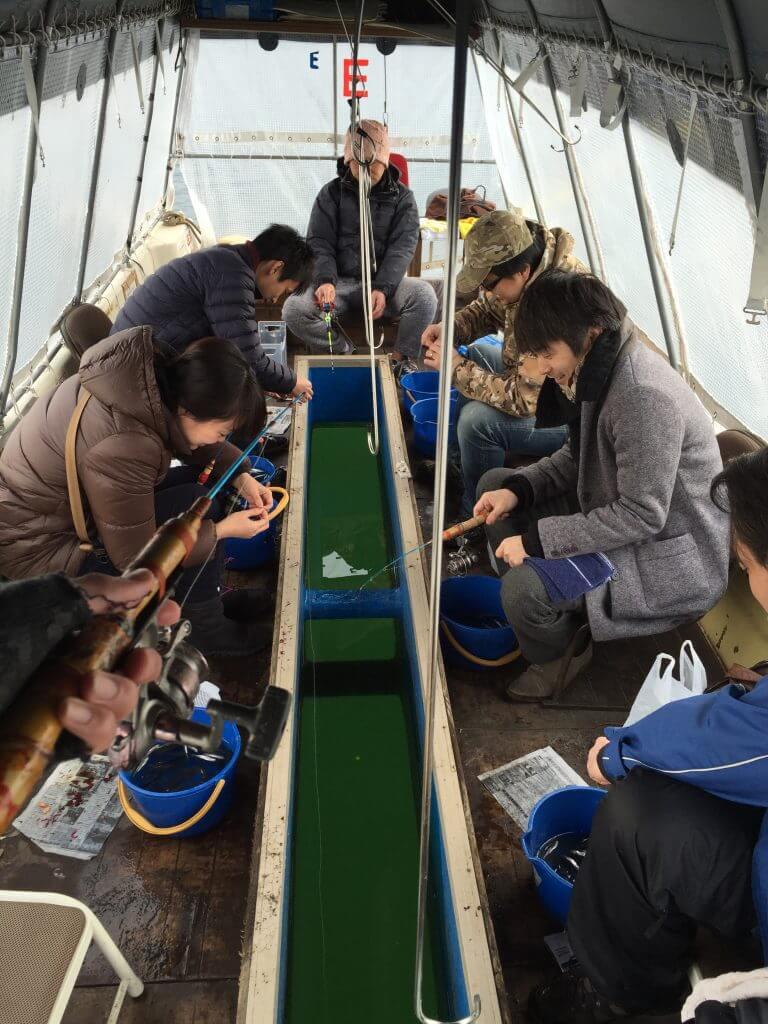 ドーム船の船内