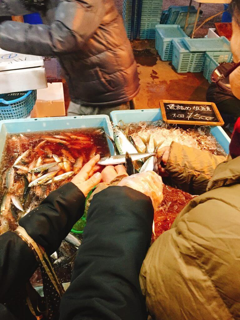 魚詰め放題500円