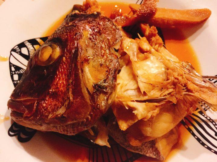 真鯛の兜煮