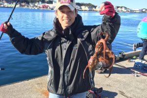 北條貢一、たまたま真蛸をゲット
