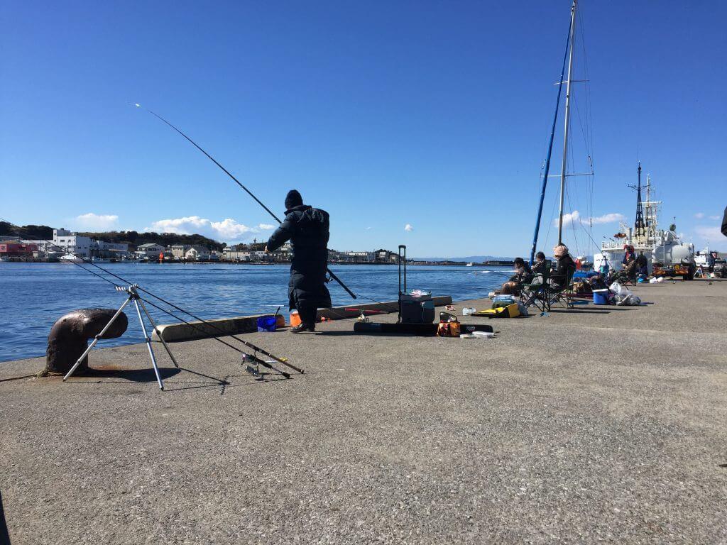 晴天でのんびり波止釣り