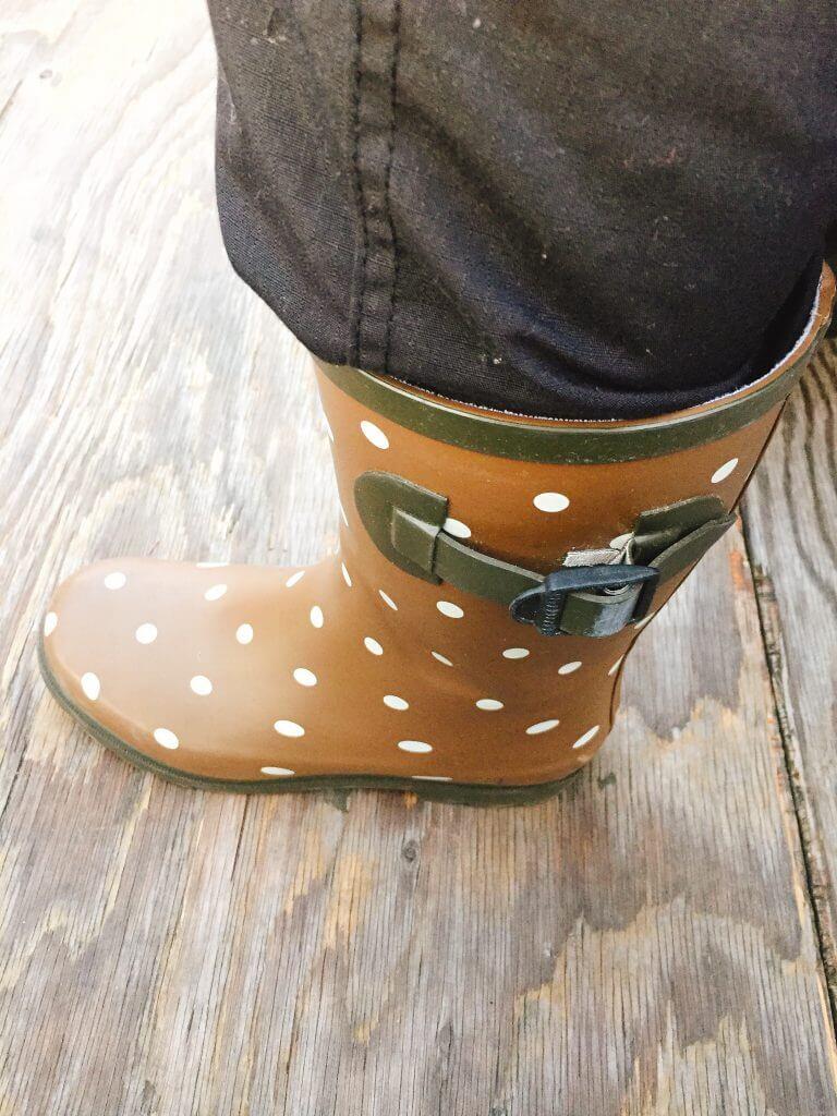 庄治郎丸さんでは女性用長靴が借りられます