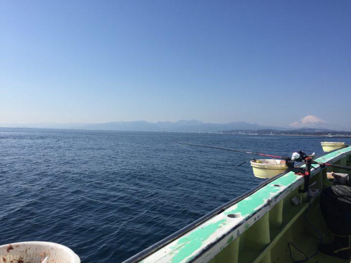 冬の相模湾の釣りは富士山が実にいい