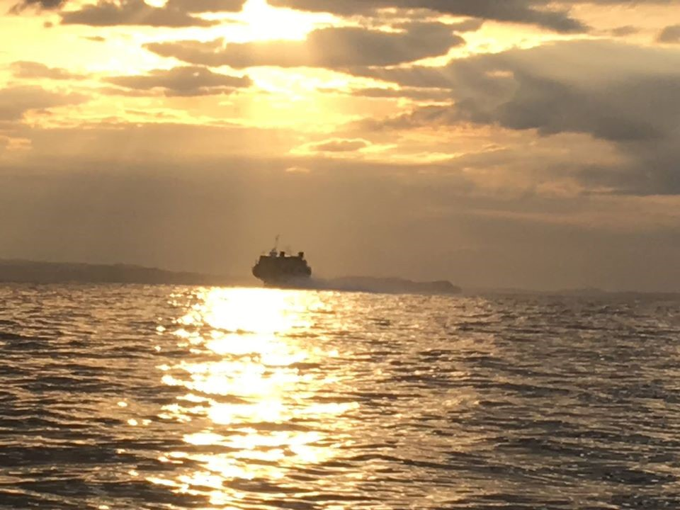 東京湾のジェット船