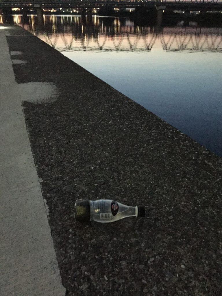 多摩川 ウナギ釣り ペットボトル仕掛け