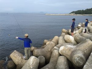 金田漁港外堤防 浮かせ釣り