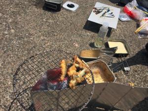 城ケ島岸壁 俺たちの釣り公式戦 イワシ 堤防調理 天ぷら