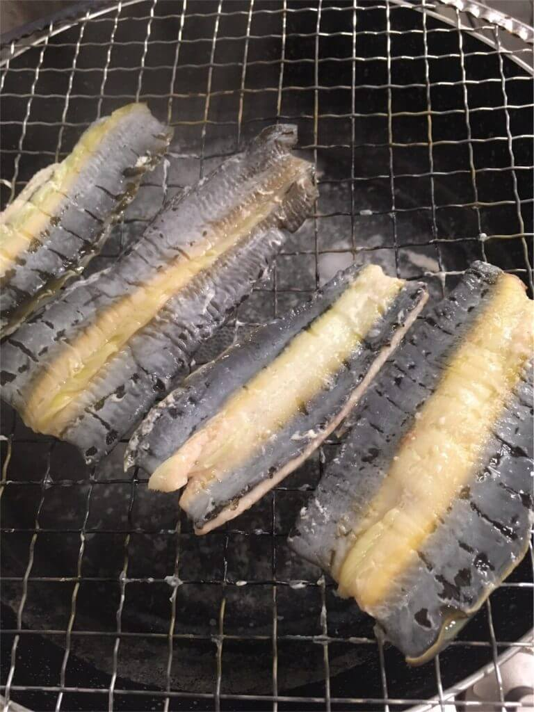 釣り 多摩川ウナギ 蒲焼 蒸す