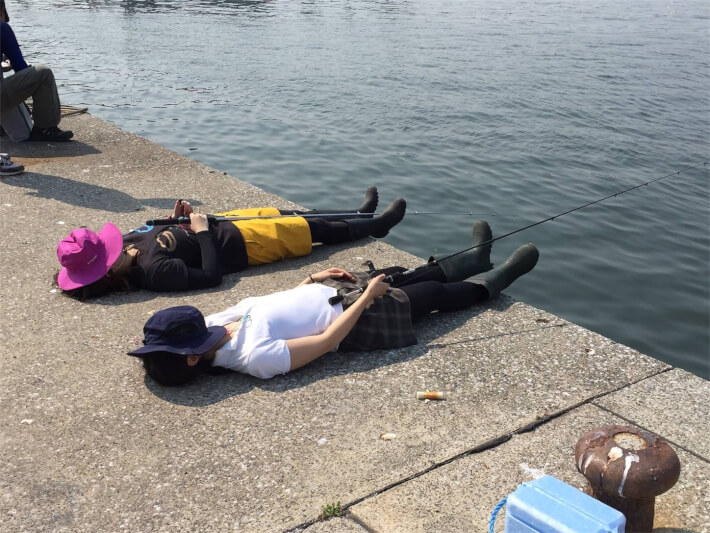 堤防釣り 寝釣り