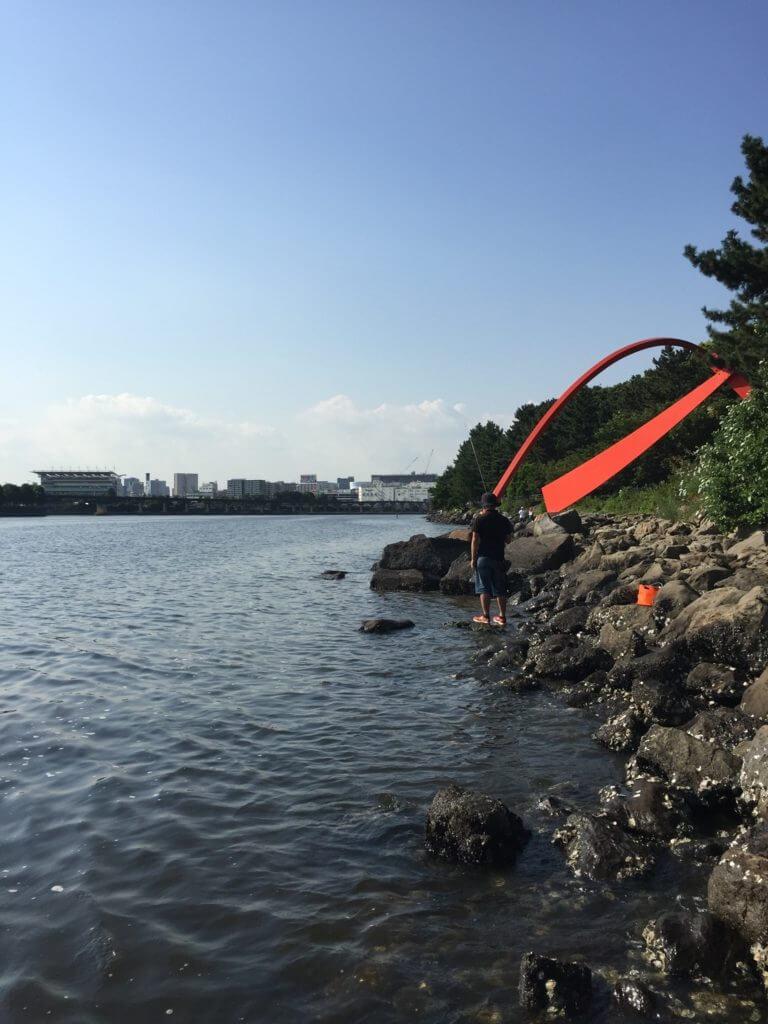 大井ふ頭中央海浜公園 ハゼ釣り