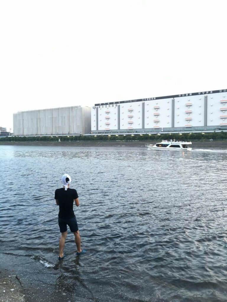 新平和橋 ハゼ泳がせ釣り