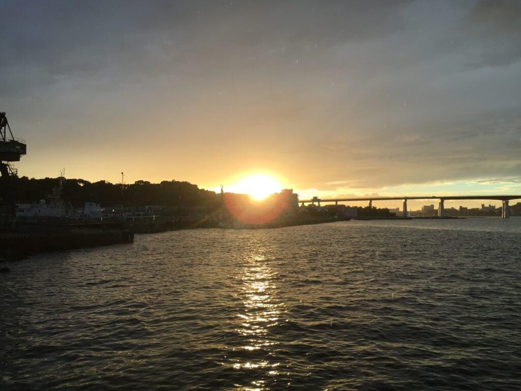 三崎口 釣り 堤防 日没