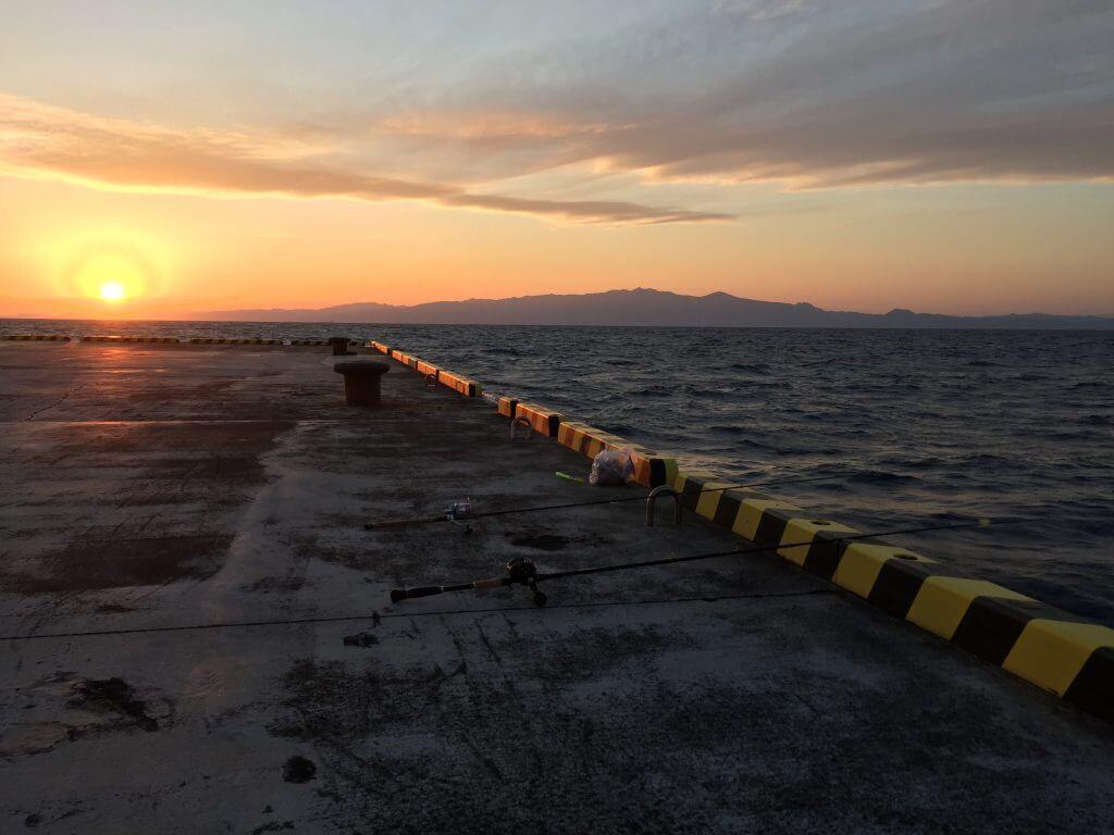 元町港の夕陽