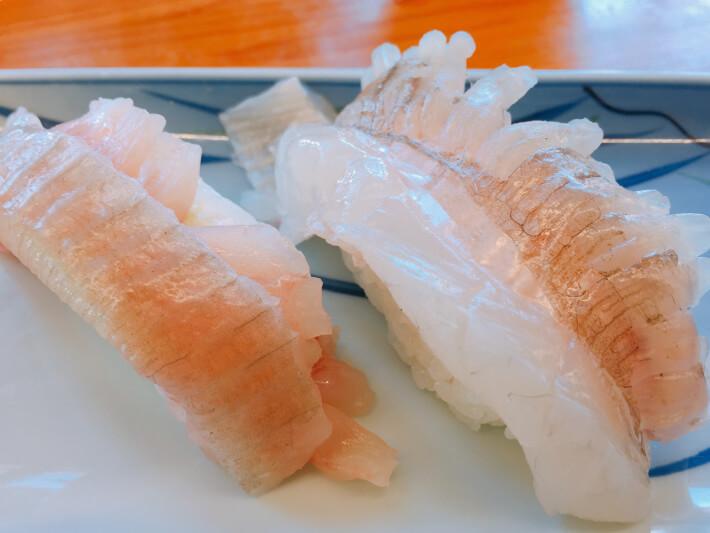 ばんやのヒラメの縁側寿司