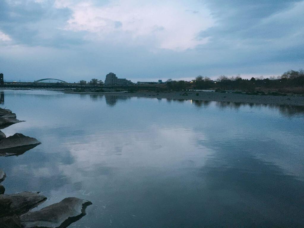 多摩川登戸下流