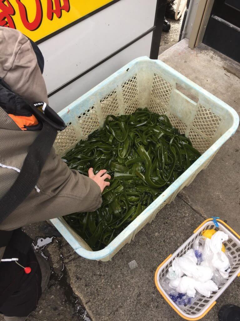 小川丸さんのワカメの茎サービス