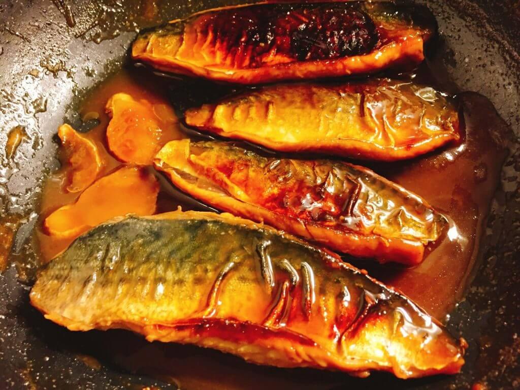釣り料理 サバの味噌煮