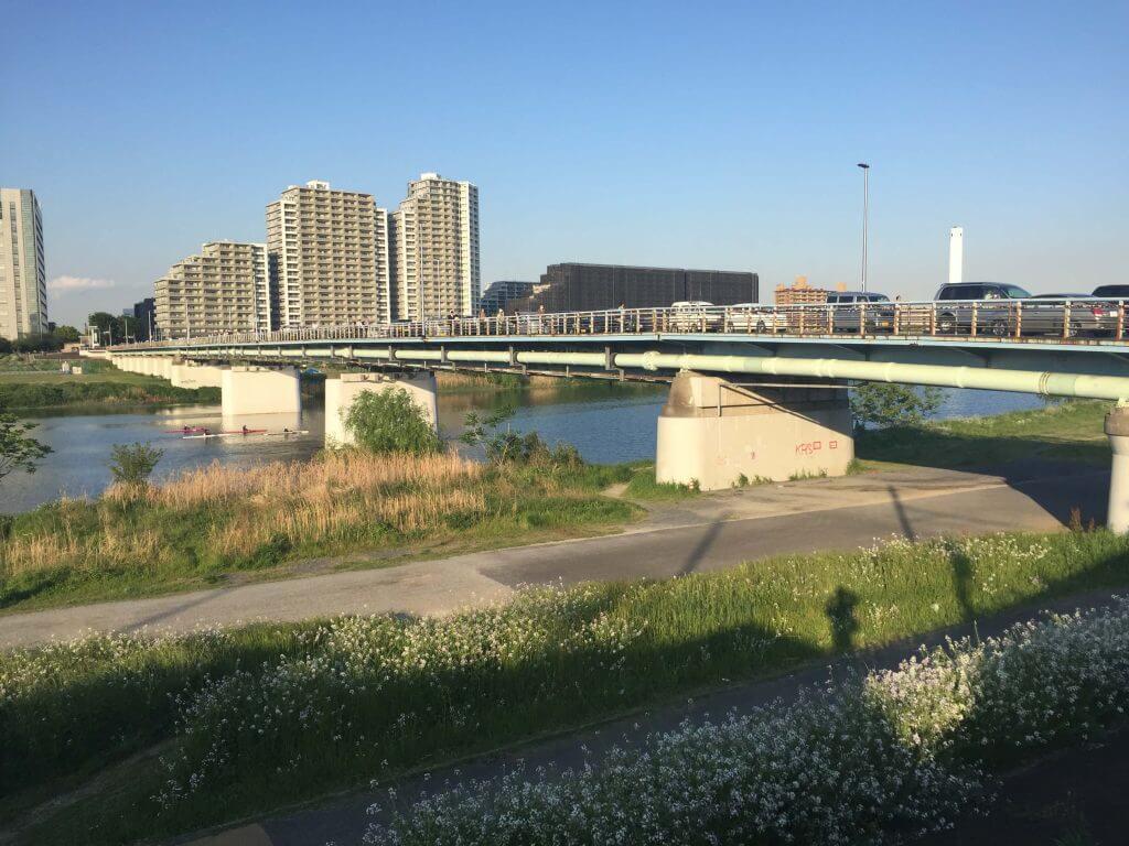 多摩川のガス橋