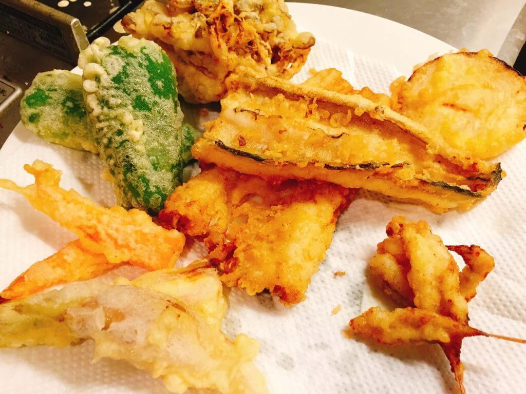 ギンアナゴとメゴチの天ぷら