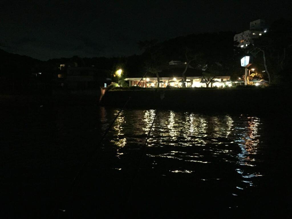 夜釣り 渚橋コーヒー