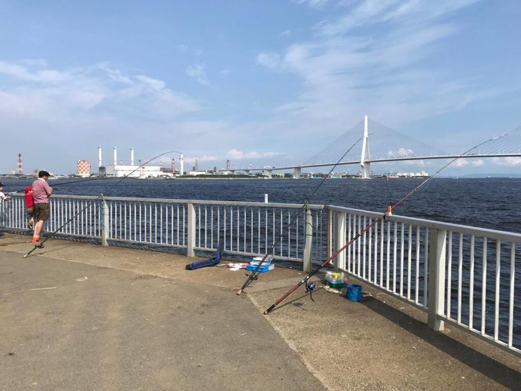 横浜市鶴見区 釣り場ふれーゆ裏 釣り