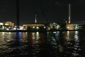 八景島でアナゴ釣り