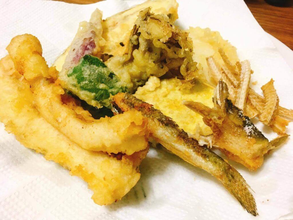 八景島で釣ったアナゴ天ぷら