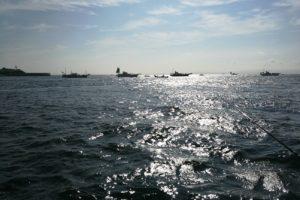 タチウオ釣り 海