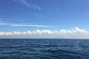 金田湾 ボート釣り いい景色