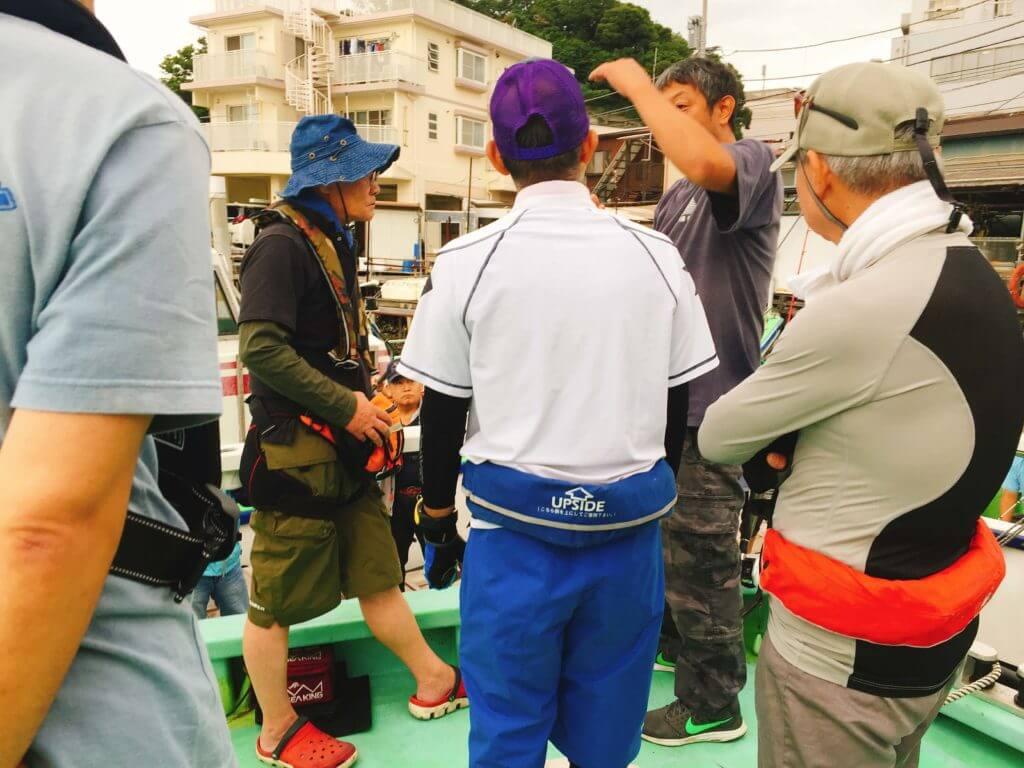 弁天屋船長のタチウオ釣りレクチャー