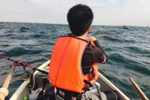 大津港でボート釣り