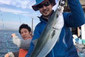 船釣りで釣れたワラサ