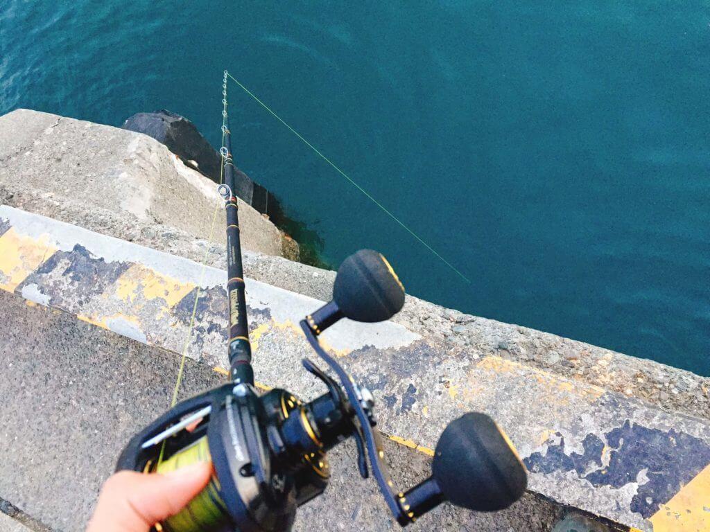 大磯港でタコ釣り