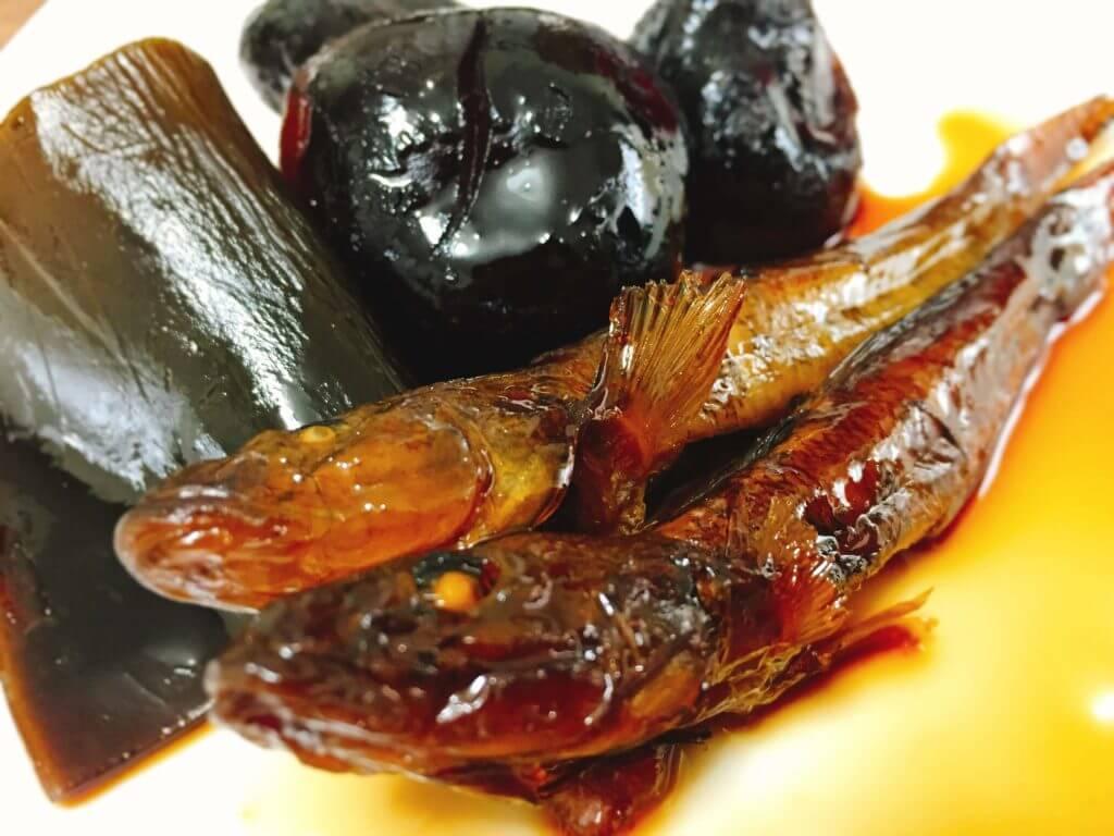 焼きハゼ干の甘露煮