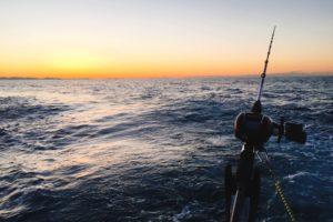 船釣りと日の出
