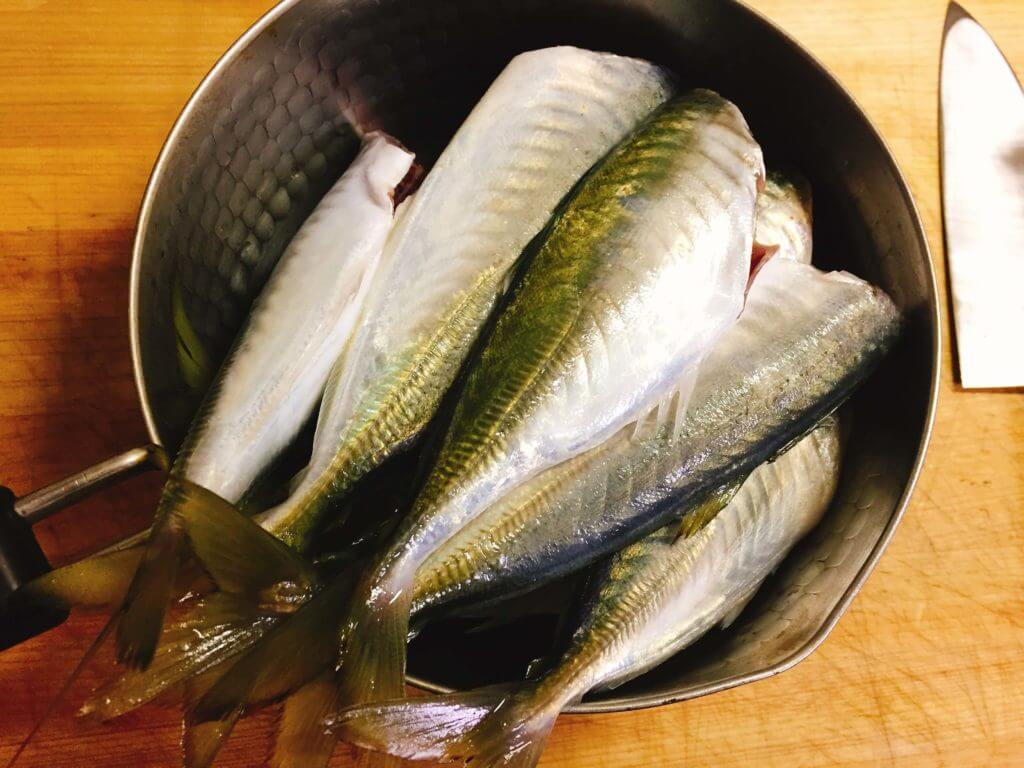 釣ったマルアジを調理