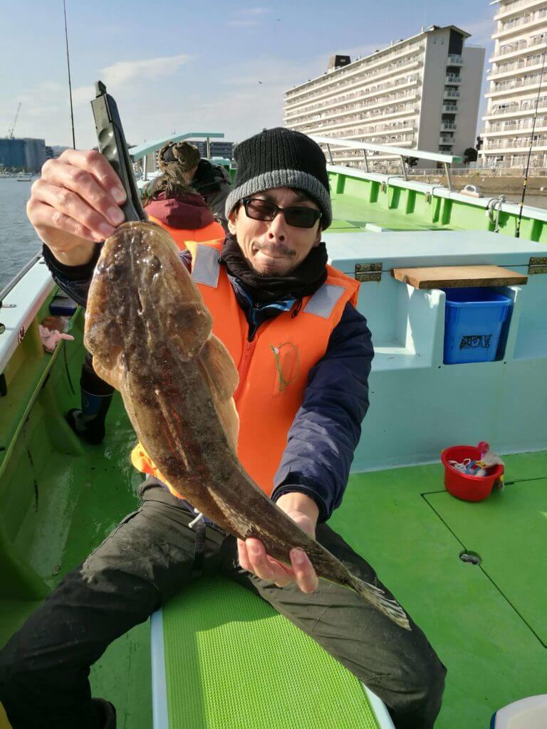 金沢八景野毛屋 マゴチを釣った