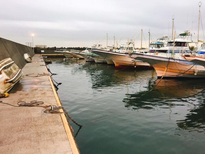 大磯港の船着き場