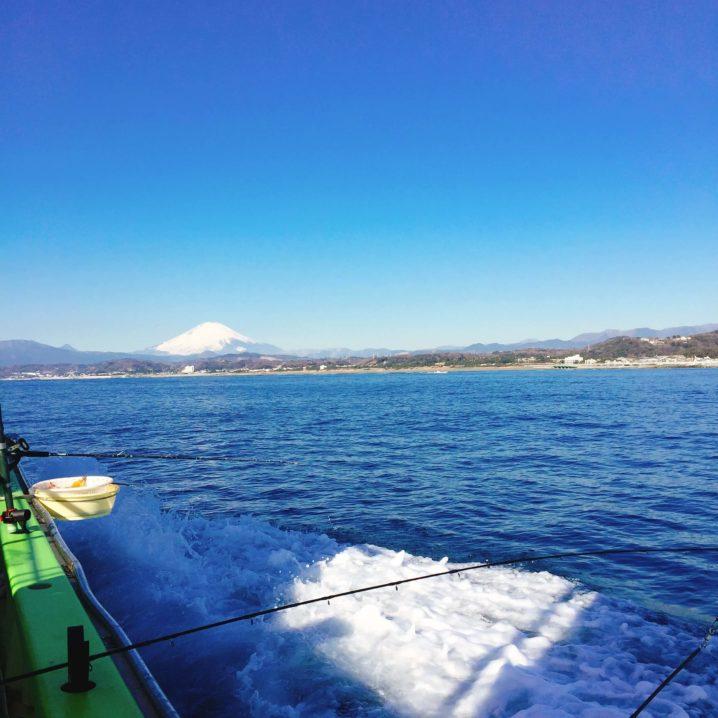 船釣り 富士山