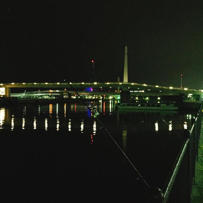 夜釣り夜景